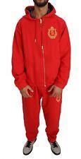 BILLIONAIRE COUTURE Tracksuit Red Cotton Sweater Pants Set s. XL RRP $1300