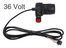 NEW 36V Half Twist Throttle for Electric Bicycle E-Bike w/ Battery Status LEDs