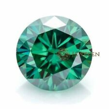 Moissanite Round Cut Excellent For Ring 0.48 Ct 5.30 Mm Green Loose