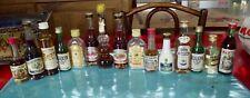 Ancien Lot de 15 Bouteilles Mignonnettes D'alcool Vintage punch crème framboise