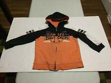 HARLEY - DAVIDSON Boy's Full Zip Hooded Sweat Jacket (5) Gently Worn Item (NICE)