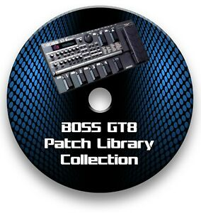 Boss GT-8 Guitar Effects Pedals - Pre-programmed sounds tone patches 1,300+ CD