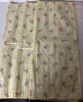 Vintage Bunny Rabbit Window Yellow Curtain For Nursery and kids Room  23.5 x 20