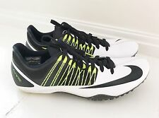 NIKE FLYWIRE RACING SPRINT Men's Shoes With Cleats Size 12 White Black