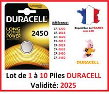 Piles CR-2450  DURACELL / Autre modèle: CR-1616-1220-1620-2016-2025-2032-2430