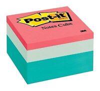 """Post-it Notes Original Cubes, 3 X 3, Seafoam Wave, 490/pad"""