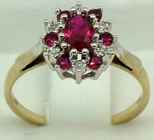 9K Yellow Gold 0.50ct Ruby & 0.05ct Diamond Ladies Engagement Ring 9ct 375 Fr $1
