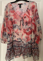 Bohemian Floral Tunic Size M By Style & Co