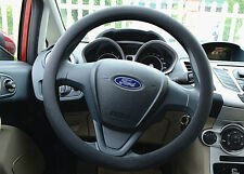 """Universal Black 14""""- 16""""  Skidproof Soft Silicone Car Steering Wheel Cover"""