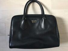 Original PRADA Designer Tasche bag borsa sac schwarz rosa Leder crossbody
