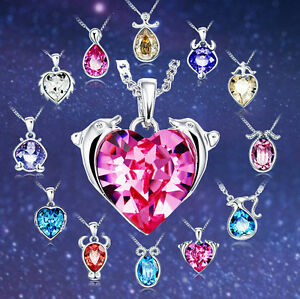 Sternzeichen Halskette mit Anhänger Kette Silberkette Geschenk Swarovski Element