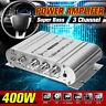 400W Amplifier 3 Channel HiFi Stereo Home Audio Car 12V USB Mini Power Amp 2.1
