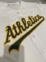 MAJESTIC OAKLAND ATHLETICS A'S BASEBALL LARGE COOL BASE WHITE STITCHED