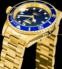 Invicta Mens Pro Diver Automatic NH35A Blue Dial 18K Gold Coin Edge Watch 8930OB