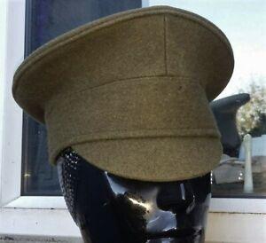 55 cm S BRITISH Army HOUSEHOLD Cavalry PEAK CAP/HAT TROOPER WW1 Patt Khaki Visor