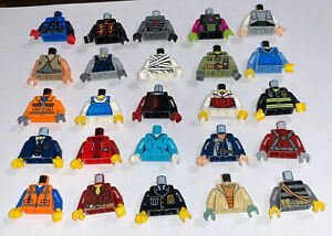 Lego Minifigure Torso Lot of 25 Body Pieces Parts People Assorted Arms Hands
