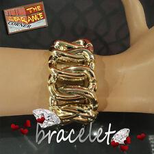 Elastic Gold Look Chain Link Bracelet Bangle Cuff Wristband Bracelet