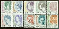 Italy 2002 Lot of 10 Stamps Women in Art MNH #616