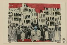 Kristen Downing I AM A MAN Signed Numbered Print 13/50