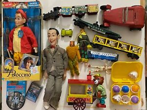 VTG Lot Collectible Toys Tin Japan Model Train Carts MGM Wizard Of Oz Figurines