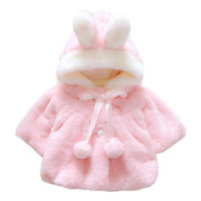 Baby Girl Cute Rabbit Ear Bunny Hoodie Coat Warm Winter Jacket Outwear Snowsuit*