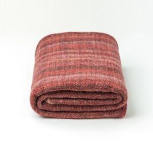 High Quality 100% A+++ Grade Handwoven ALPACA Blanket / Throw Travel