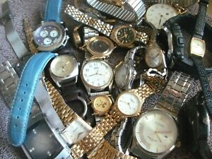 Lot of 30+ Mens & Womens Watches: Seiko, Bulova, Weil, Fossil, Timex + More