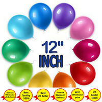 "12"" inch 1-100X Latex PEARL Metallic BALLOONS BALLONS helium Birthday UK"