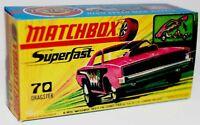Matchbox Lesney  No 70 Dodge Dragster Repro Empty box  G