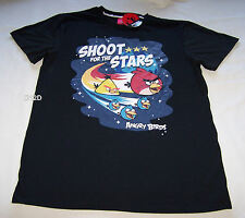 Angry Birds Shoot Stars Mens Black Printed T Shirt Size S New