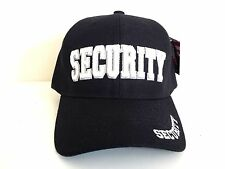 SECURITY Embroidered Black Cap