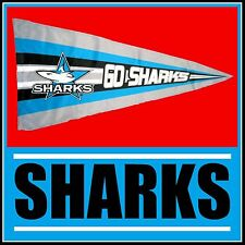 NRL CRONULLA SHARKS FLAG Pennant style official product 900 x 500mm - NEW!