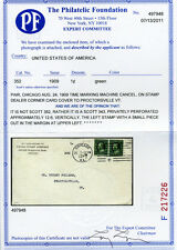 Scott #343 Private Perf Coil Pair on COVER 2011 PF Cert (Stock # 343ppcvr-1)