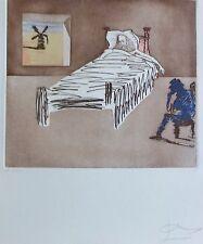 Salvador Dali Le Legacy Don Quijote Quichotte Firmado a Mano Original Grabado