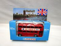 Vintage Lone Star London Diecast Double-Decker Bus 1984 Bus 1259