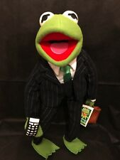 """THE MUPPETS - KERMIT COLLECTION - 17"""" BUSINESSMAN SUIT w/CELL PHONE & BREIF CASE"""