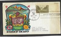 US 1945 FDC In honor of army Eisenhower MacArthur big stampel 1 stamp Washigton
