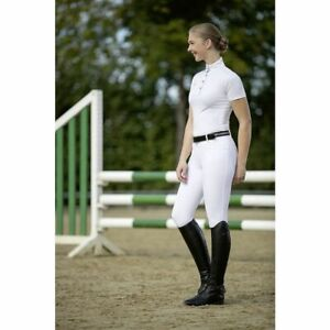 HKM Premium Competition Show Short-Sleeved Shirt, Cool Elastic Breathable