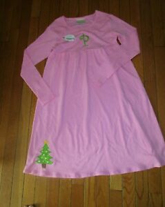 """New With Tags Lolly Wolly Doodle Girls Christmas Tree Dress Monogram """"P"""" sz. 10"""