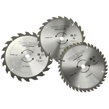 3PC 190mm TCT 30mm Bore Circular Saw Blades 20, 24 & 40 Teeth Hardwood, Softwood