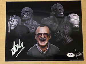 STAN LEE Hand Signed Authentic 8X10 Autograph MARVEL Photo - PSA #AJ23881!