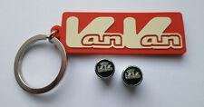 Suzuki RV125 & RV200 VanVan accessory set. includes logo key ring and dust caps