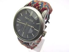 BRAND NEW MENS KAHUNA WATCH DARK BLUE DIAL AZTEC FRIENDSHIP BRACELET KGF 0007G