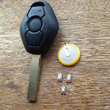 BMW 3 BUTTON Diamond Remote Key Fob Case E46 3 5 7 Z3 FULL REPAIR KIT + Battery