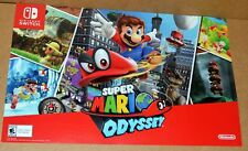 NINTENDO SWITCH SUPER MARIO ODYSSEY DOUBLE SIDED GAMESTOP POSTER
