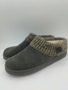 Clarks Women's Knit Scuff Slipper Mule Sweater Collar Clog Suede Size 10 NEW