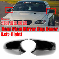 Pair M3 Style Side Mirror Cap Covers For BMW E90 E91 E92 E93 Facelifted 08-11