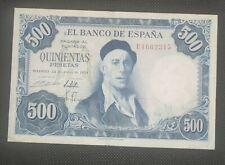 Billete 500 Pesetas De 1954(zuloaga)