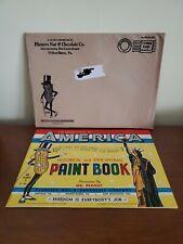 Vintage 1949 Mr. Peanut United States Of America Paint Book Planters Orig Mailer