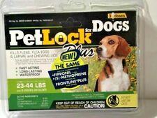 New PetLock Plus Flea & Tick Treatment for Medium Dogs 23-44 pounds 3 doses